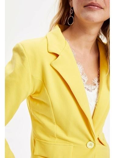 DeFacto Blazer Ceket Sarı